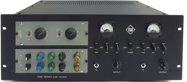 BBC AM9 dual preamp and AM22 dual EQ modules, FET DI, Output control, polarity-pad and 48v switches