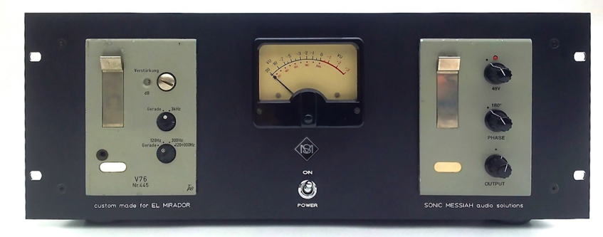 1x TAB V76 with VU meter, ramped 48V, polarity reverse, 235 to 220V conversion and gain control  ....