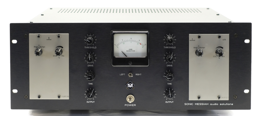 2 x Siemens U273 modified with additional control functions and gain reduction and  VU meters custm made by sonicmessiah