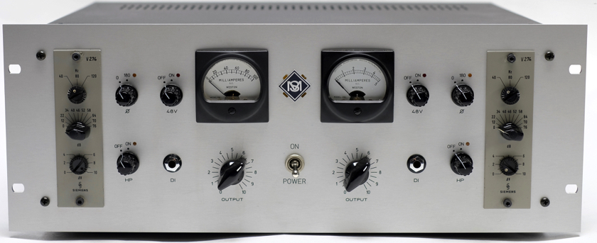 2 x Siemens V276 preamps with VU meters, DI , HP filter, output control ....