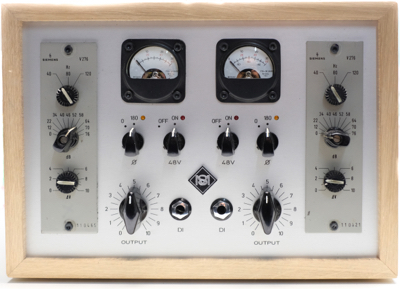 Lunchbox with  Siemens V276 with VU meters, ramped phantom, Active DI, output control 2 x Siemens V276, VU meters, ramped phantom, Active DI, output control