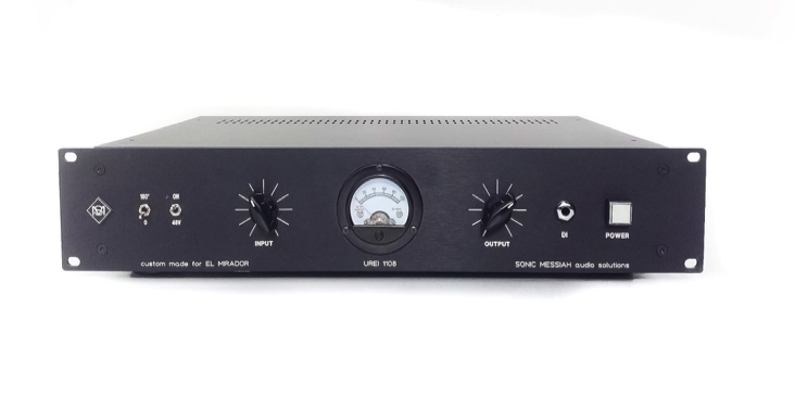 custom made rack  Urei 1108 with ramped 48V, polarity reverse, gain and output control, ...